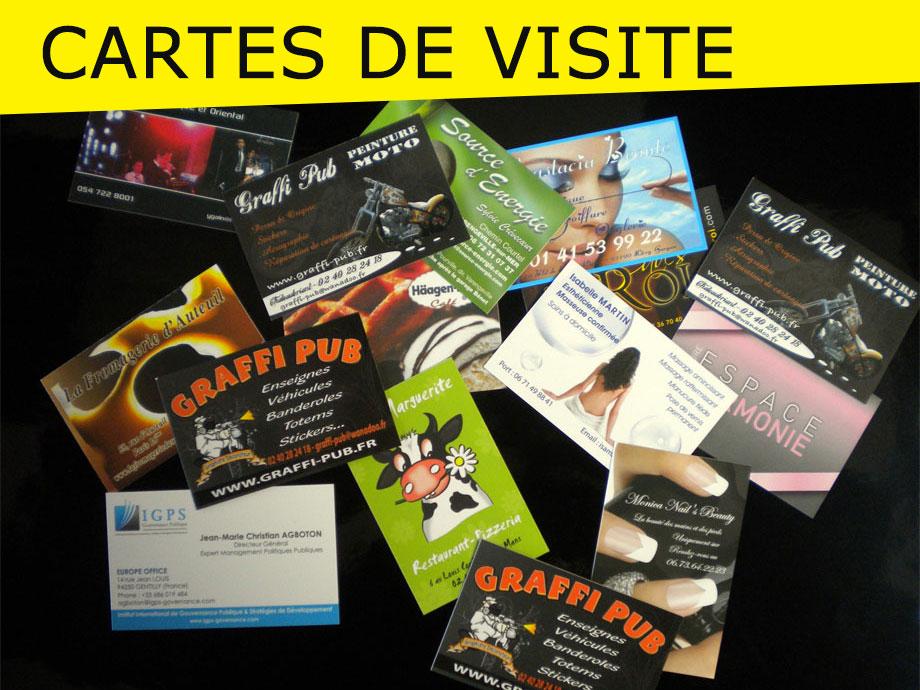 graffi-pub, cartes de visite, création logo, enseigne, fabrication, pose, identité visuelle, image, communication, publicité